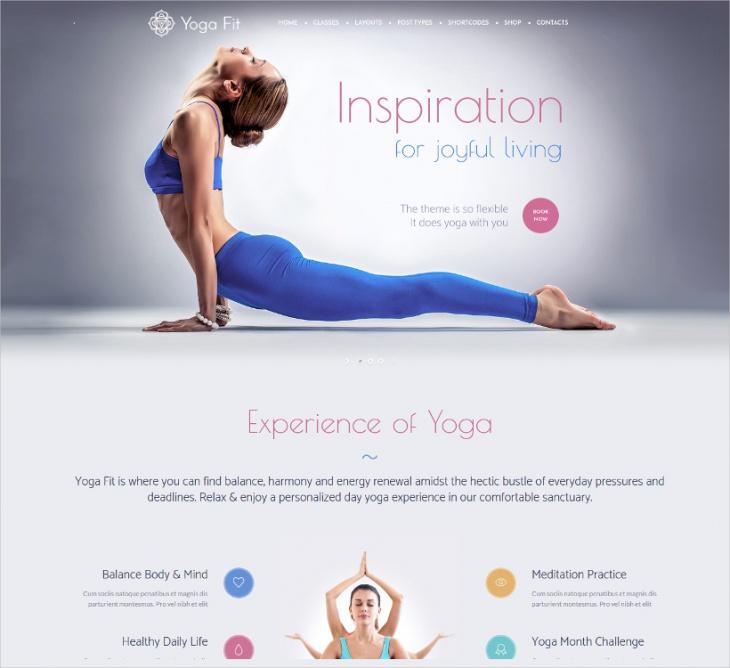 Yoga Fit Responsive Theme