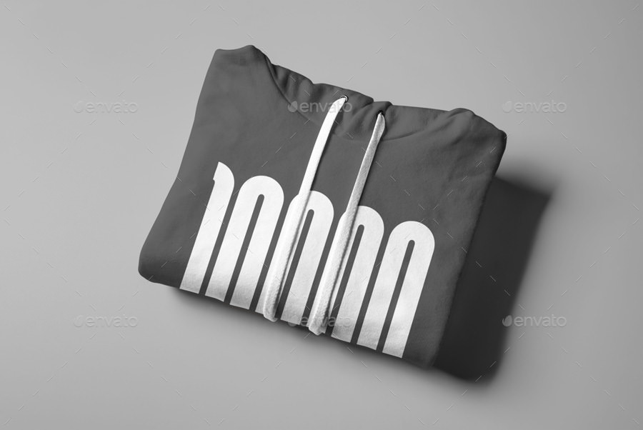 folded hoodie mockup