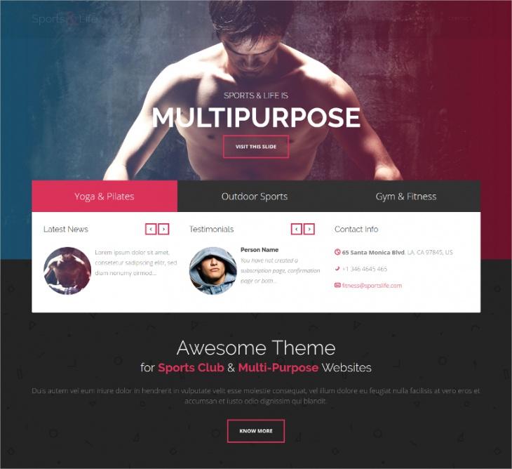 Sports Club Multipurpose Theme