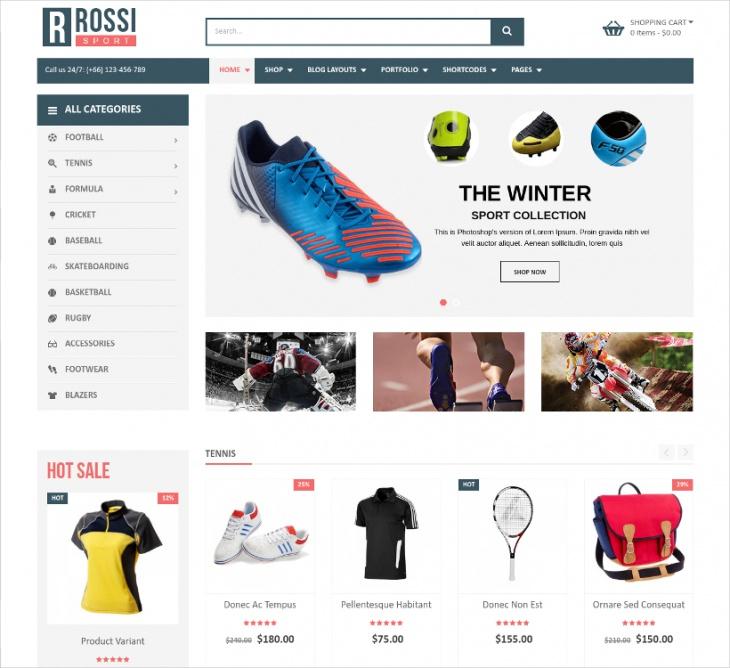 Sport eCommerce WP Theme