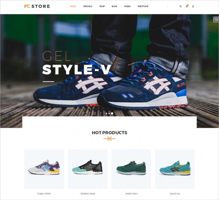 Responsive FCStore WordPress Theme