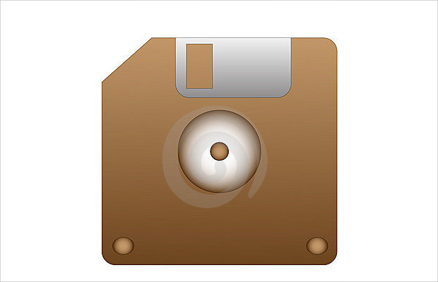 Simple disk save icon.