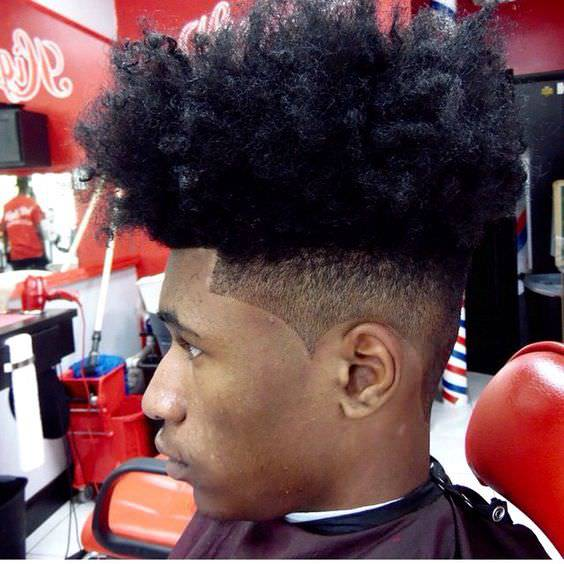 curly flat top fade haircut