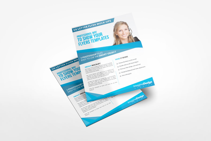 Vertical Invitation Flyer Mockup Designs