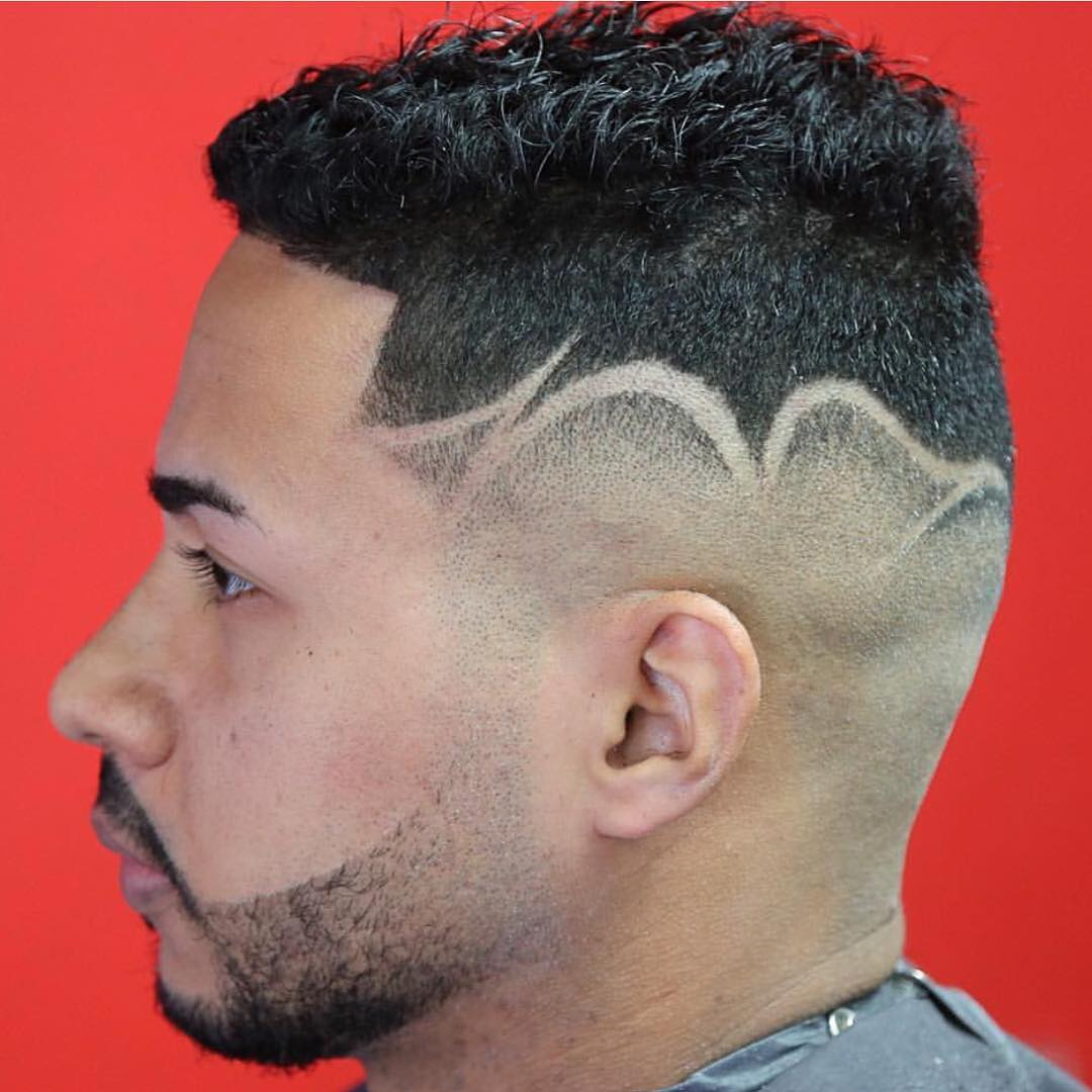 Fade on the side haircut