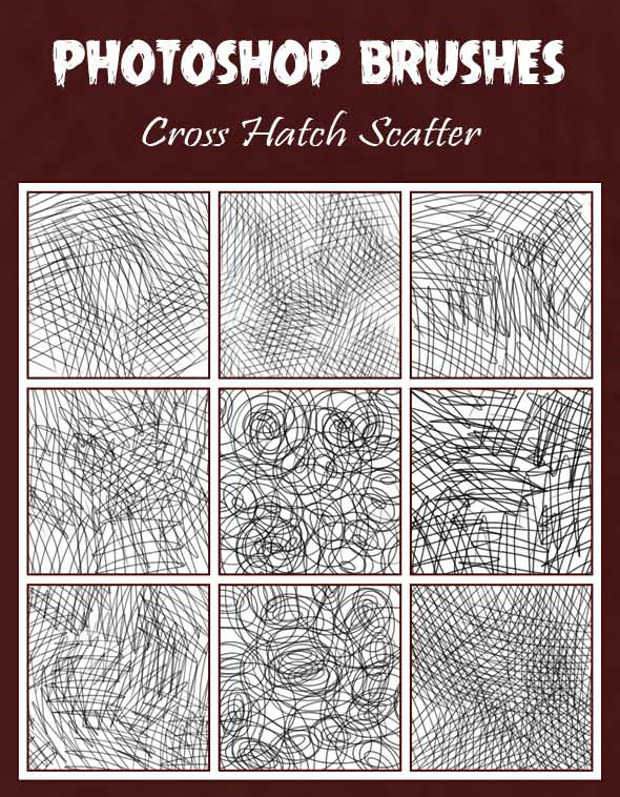 Cross Hatch Scatter Pencil Brush