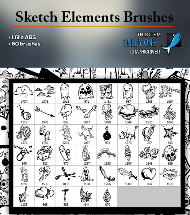 Sketch elements pencil brush Download