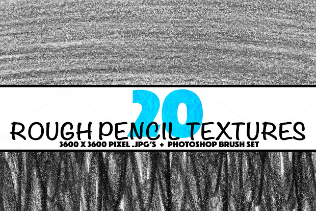 20 Rough Pencil Brushes Download