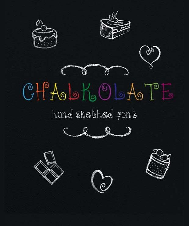 Hand Sketched Chalk Font