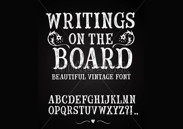Background Chalk Font
