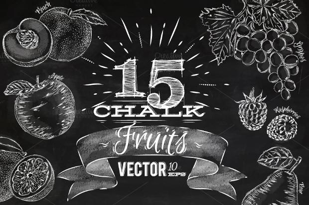 beautiful fruit chalk font