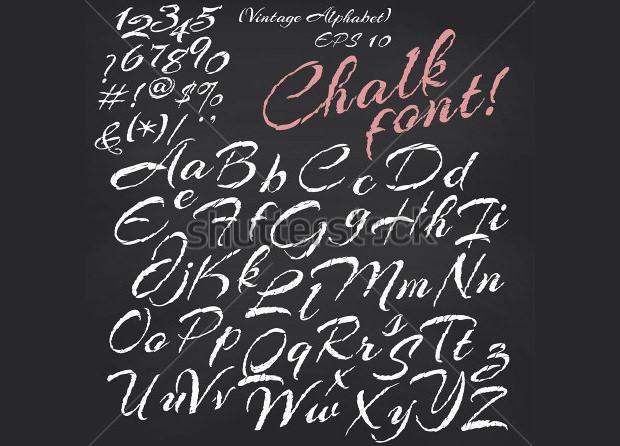 Alphabet Chalk Font