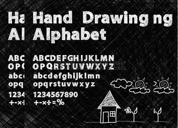 drawing chalk font