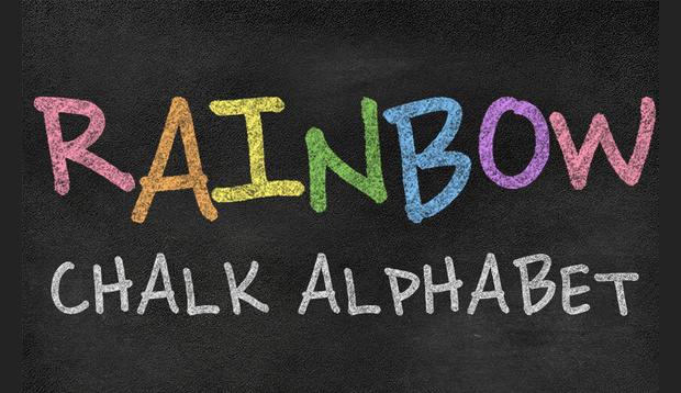 Rainbow Chalk Font