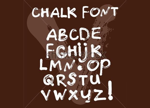 brush paint chalk font