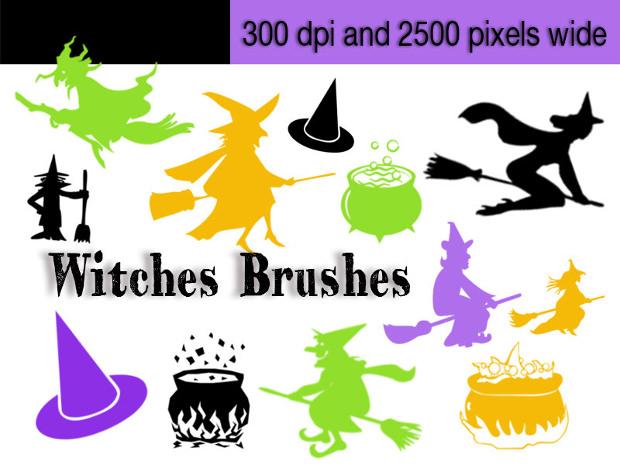 20+ Witches Photoshop Brushes