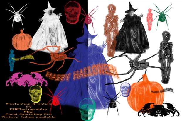 Halloween Paintshop Brushes