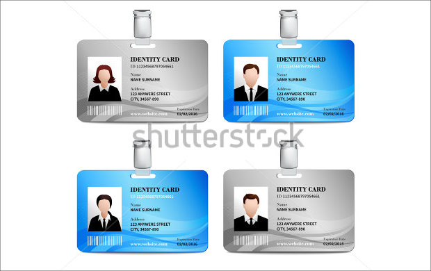Lovely Realistic ID Card PSD Template