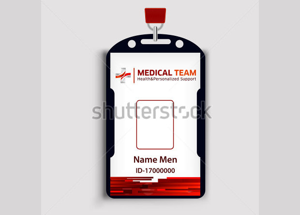 Medical Staff ID Card PSD Template