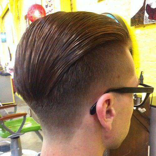 Back Side Bald Long Faded Haircut Design