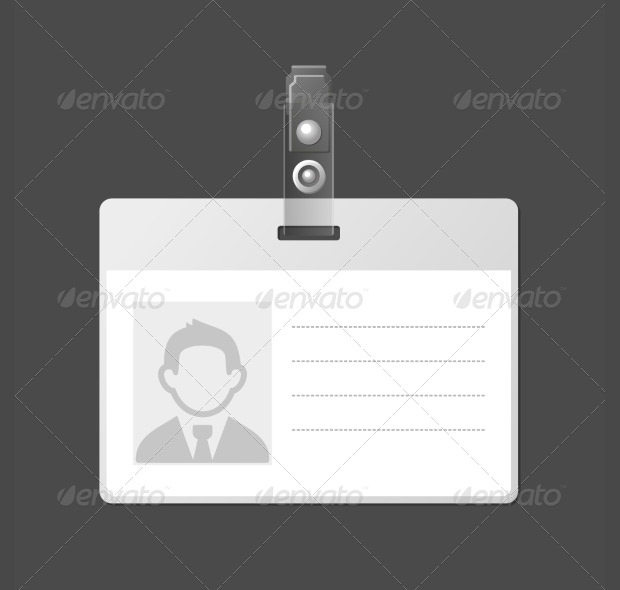 16 id card psd templates designs design trends for Identification badges template