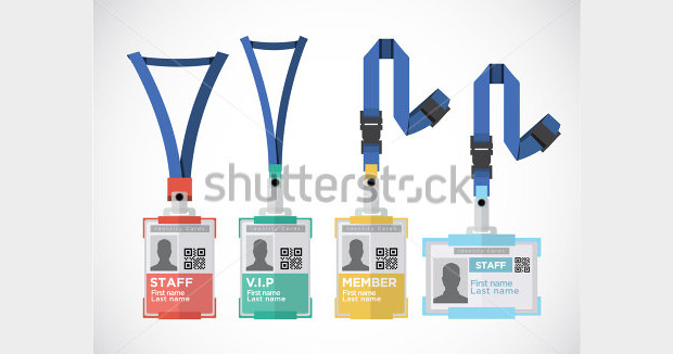 Tag Holder ID Card PSD Template