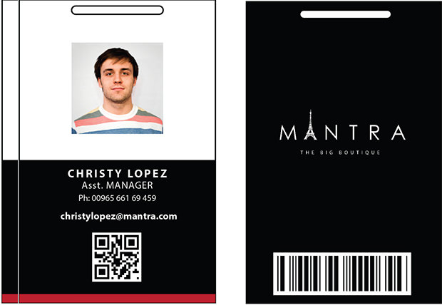 Boutique ID Card PSD Template