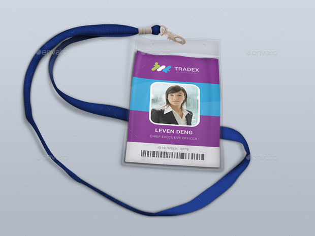 Excellent ID Card PSD Template
