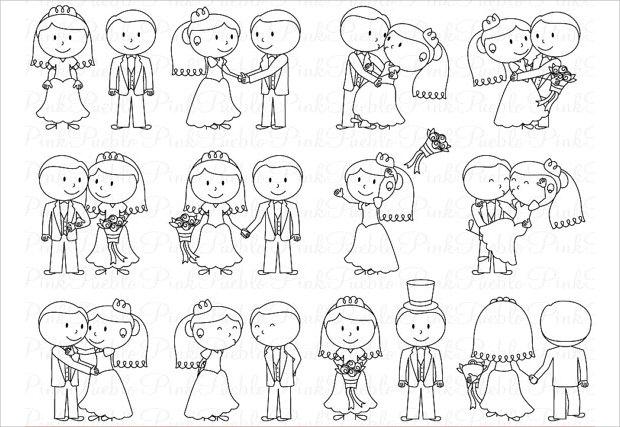 Adorable Couple wedding Photoshop Brushes