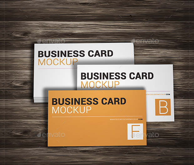 Sample Company Business Card Mockup