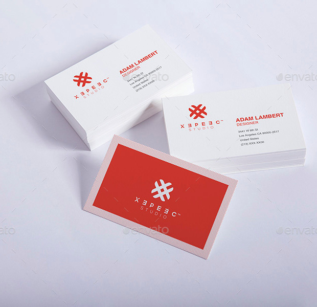 Realistic Professional business Card Mockup
