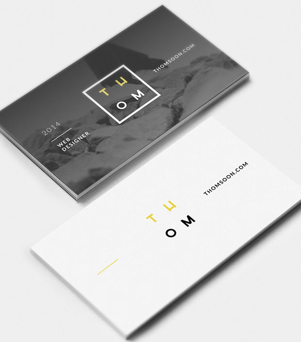 Cool Set Of Business card Mockup