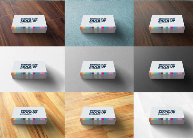 Different business card mockup