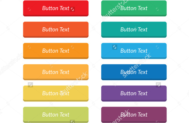 rainbow flat web buttons