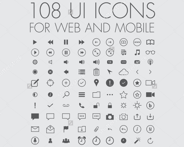 100 buttons for web and mobile