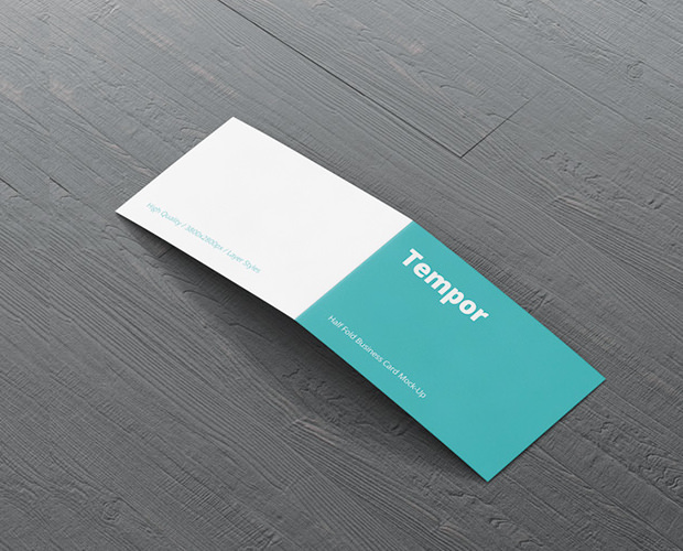 Pack of Folded Business Card Paper Mockup