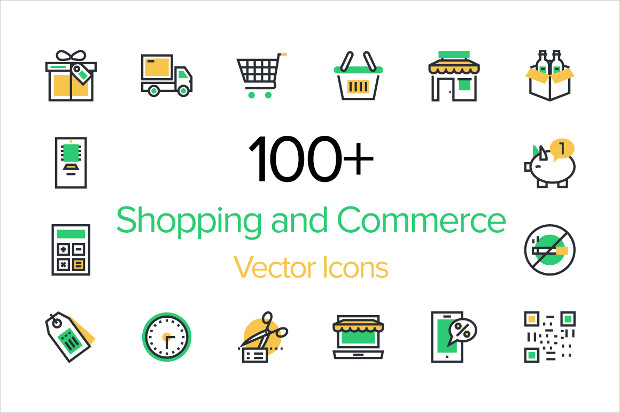 100 Ecommerce Vector Icons