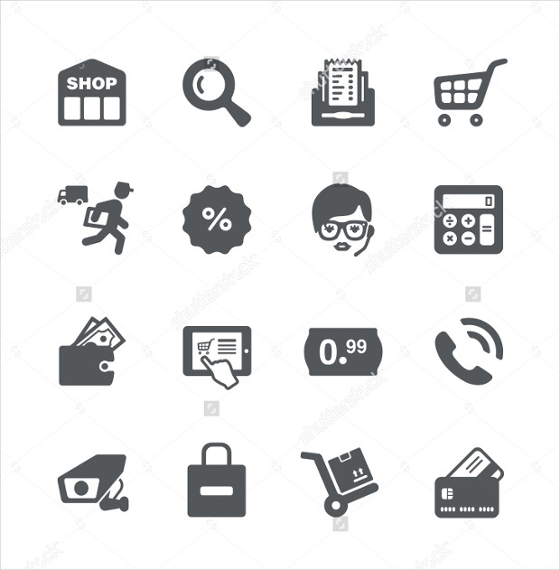 Minimalistic Shopping Icons