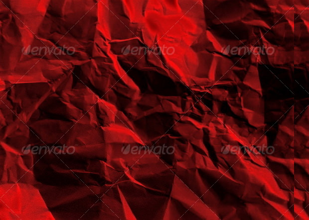 Rumpled Paper Red Texture