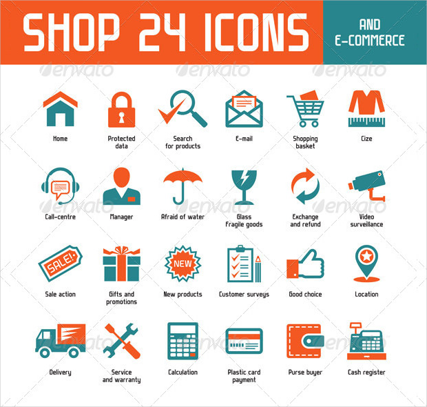 24 Latest Vector Shoping Icons