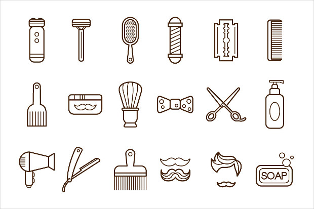 Barbar Shop Icons