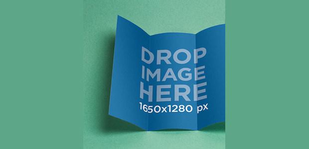 Open Tri-Folded Paper Mockup