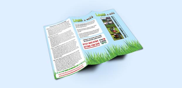 Tri Folded Paper Brochure Mockup