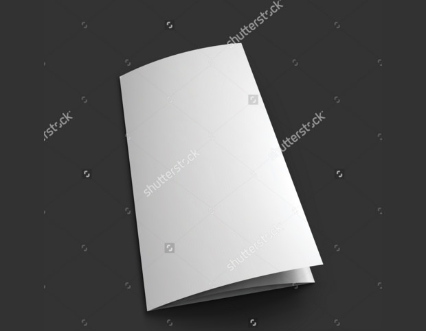 Blank Paper Floded Mockup