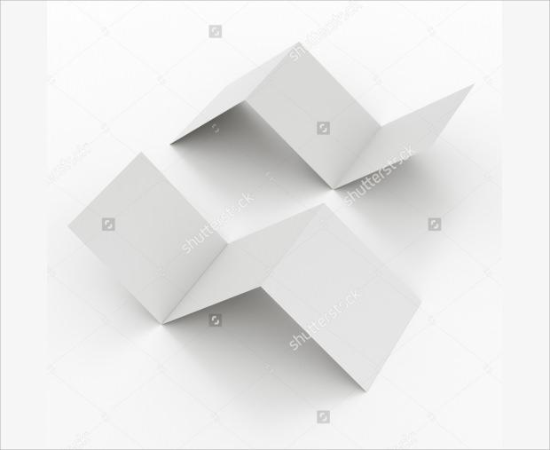 Zig zag Blank Paper Folded Mockup
