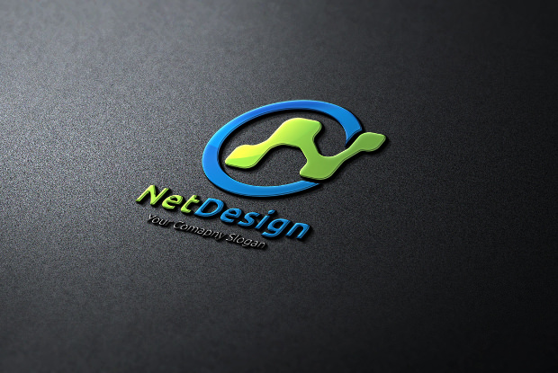 net design electronic font