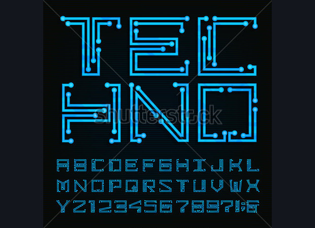 Collection of Electronic Font Design