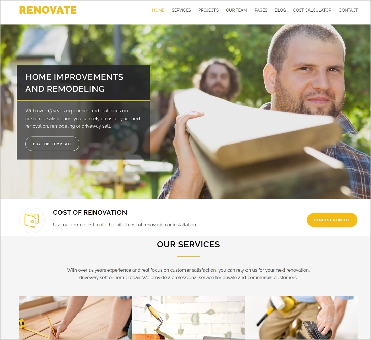 construction business template