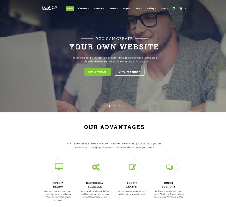 design studio multipurpose website template