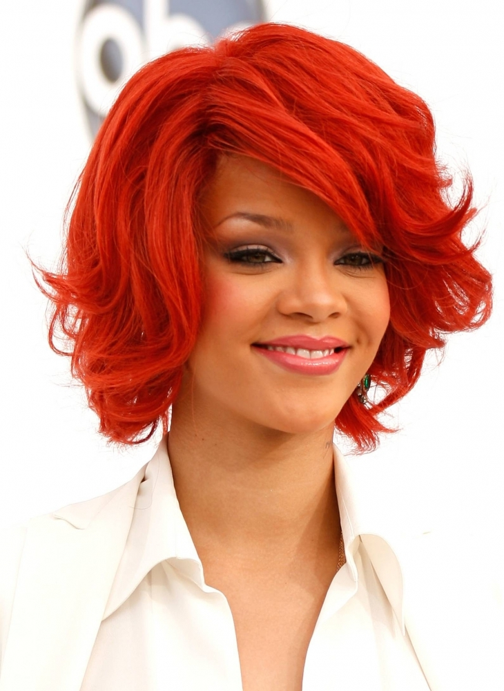 Rihanna Shaggy Hairdo